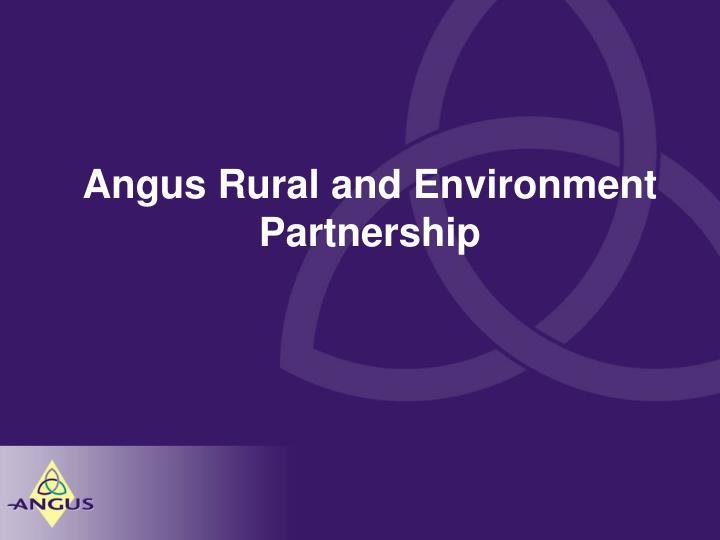 Angus rural and environment partnership