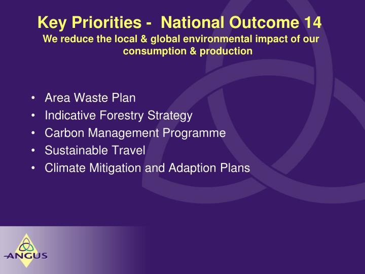 Key Priorities -  National Outcome 14