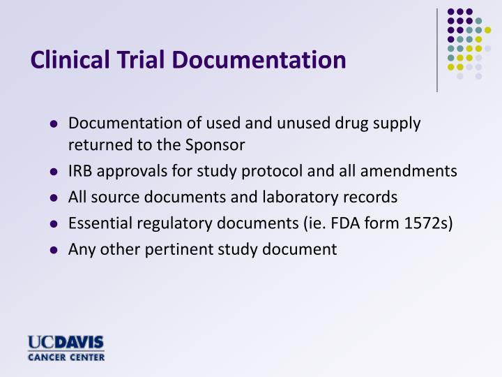 Clinical Trial Documentation