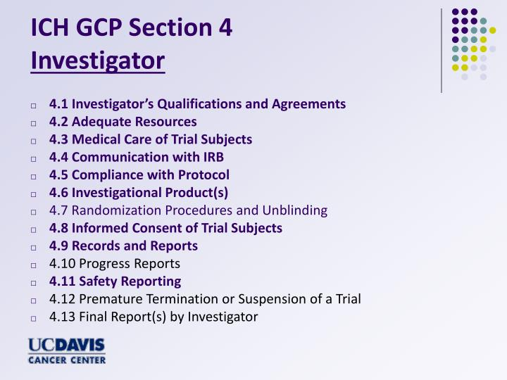 ICH GCP Section 4