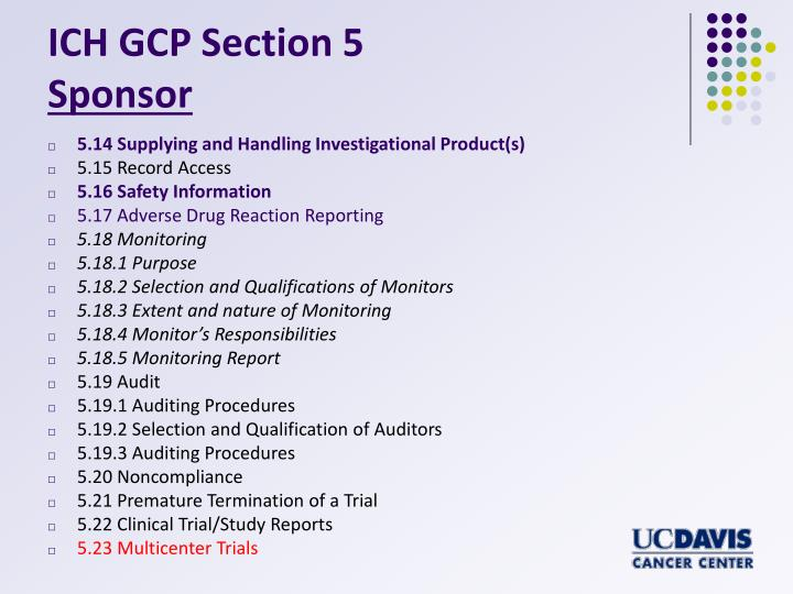 ICH GCP Section 5