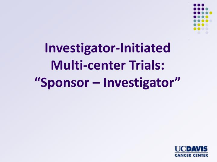 Investigator-Initiated