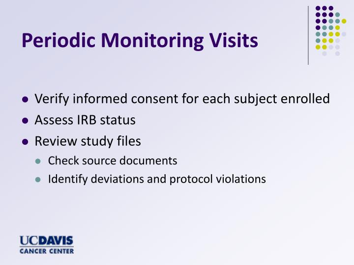 Periodic Monitoring Visits