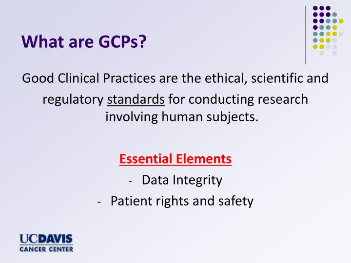 What are GCPs?