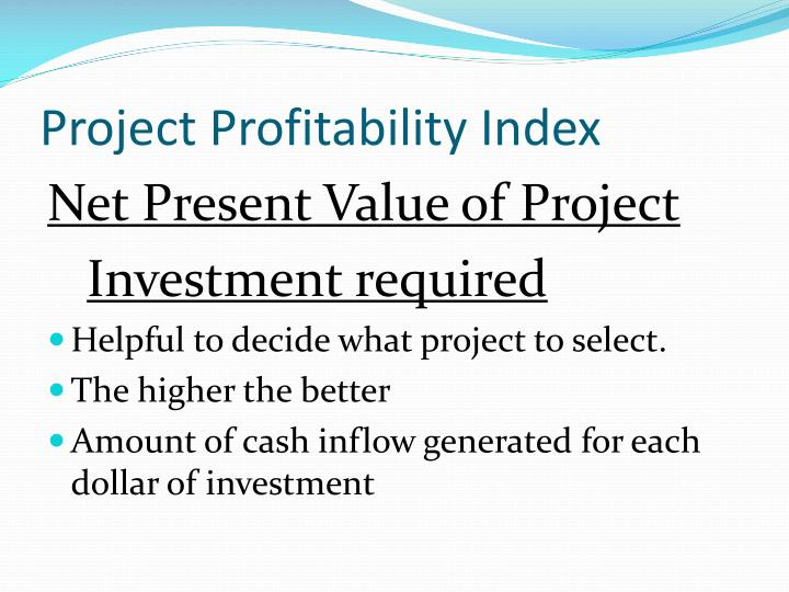 Project Profitability Index