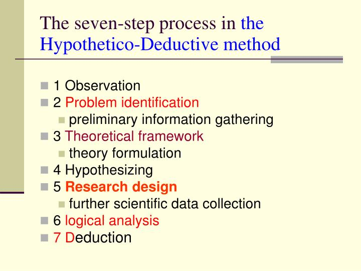 The seven-step process in