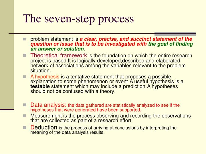 The seven-step process
