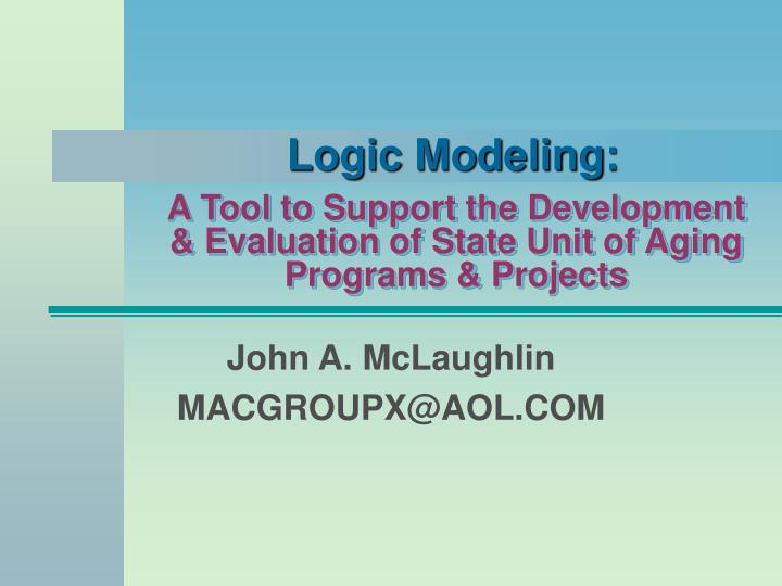 A tool to support the development evaluation of state unit of aging programs projects