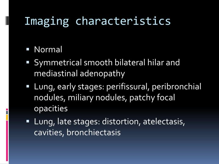 Imaging characteristics