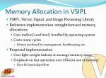 memory allocation in vsipl