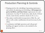 production planning controls