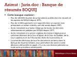 azimut juris doc banque de r sum s soquij