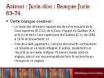 azimut juris doc banque juris 63 74