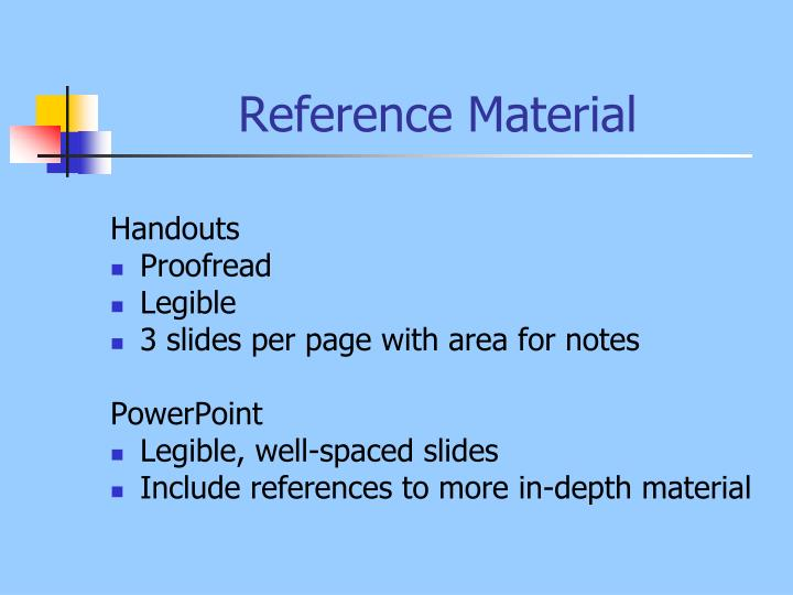 Reference Material