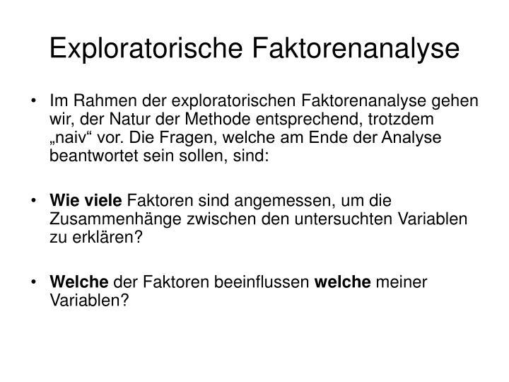Exploratorische Faktorenanalyse