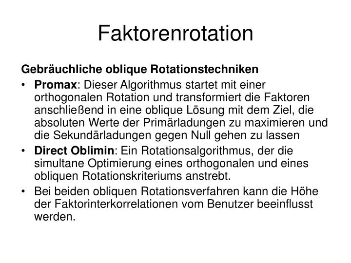 Faktorenrotation