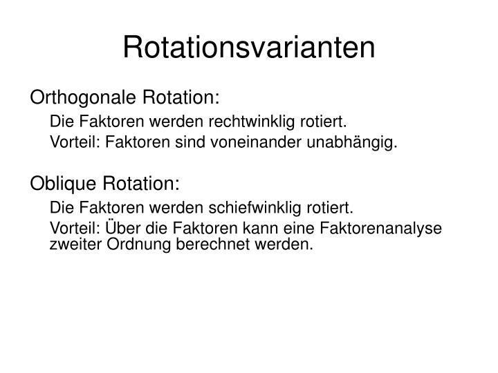 Rotationsvarianten
