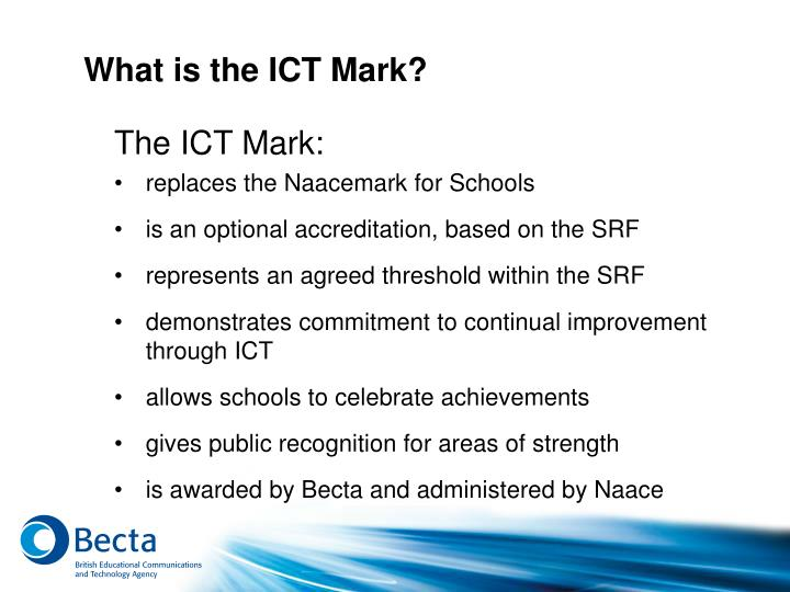 What is the ICT Mark?