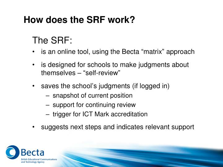 How does the SRF work?