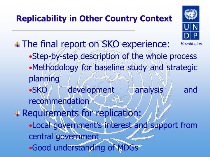 Replicability in Other Country Context
