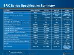 srx series specification summary