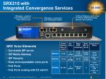 srx210 with integrated convergence services