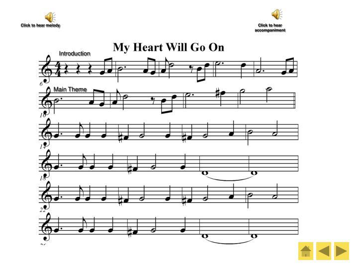 Click to hear melody