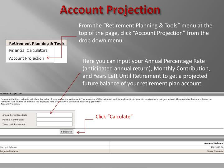 Account Projection