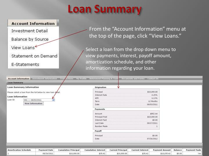 Loan Summary