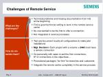 challenges of remote service