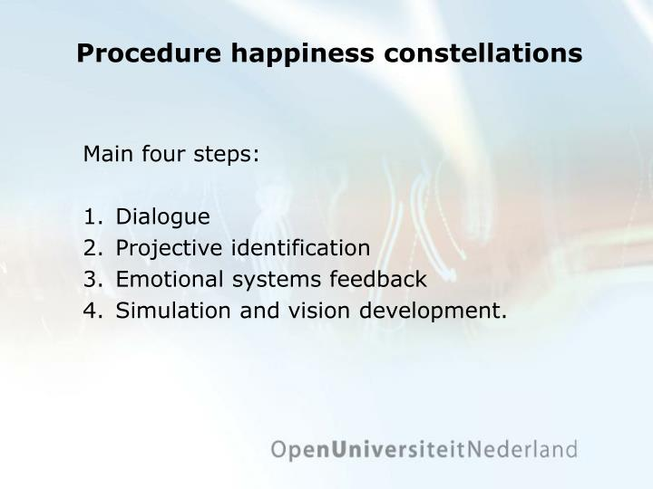 Procedure happiness constellations