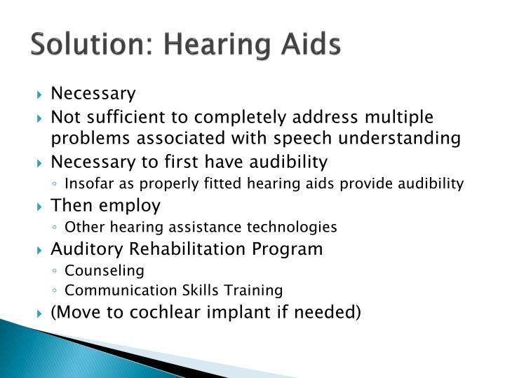 Solution: Hearing Aids