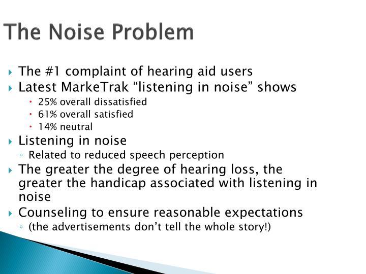 The Noise Problem