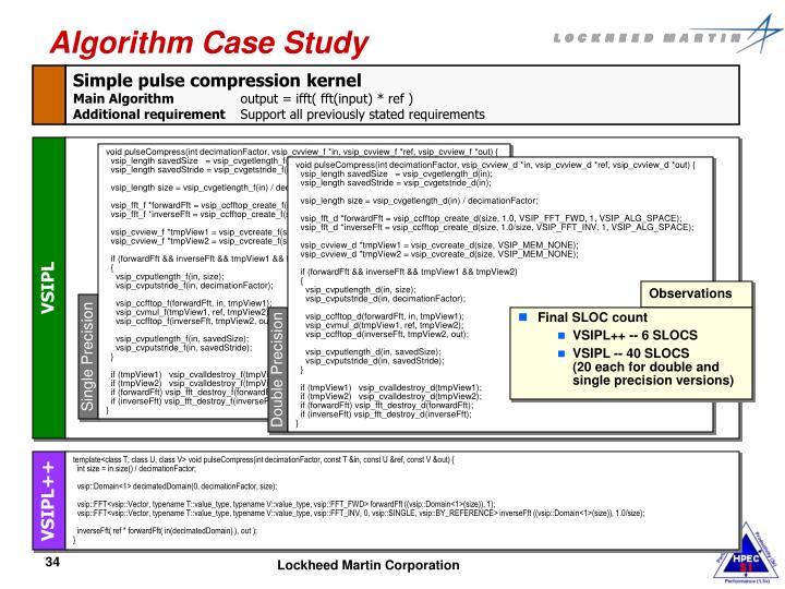 Algorithm Case Study