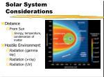 solar system considerations