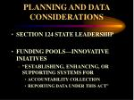 planning and data considerations1