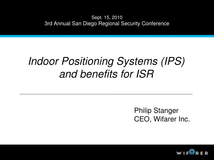 Sept 15 2010 3rd annual san diego regional security conference