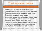 the innovation debate