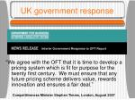 uk government response