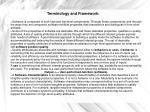 terminology and framework