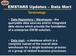 emstars updates data mart