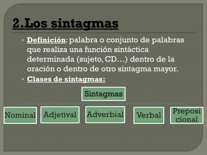 2.Los sintagmas