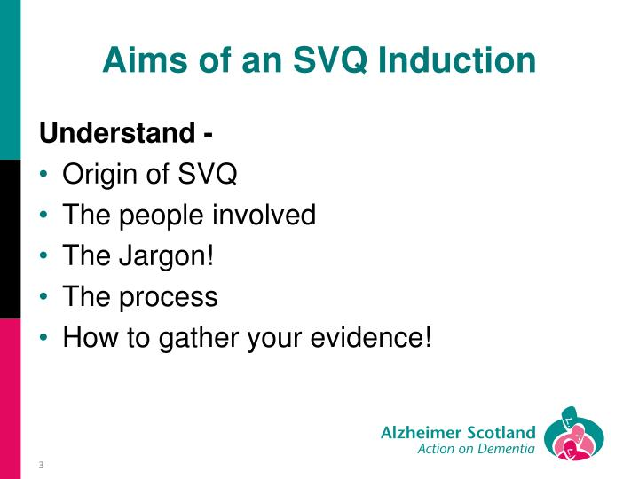 Aims of an svq induction