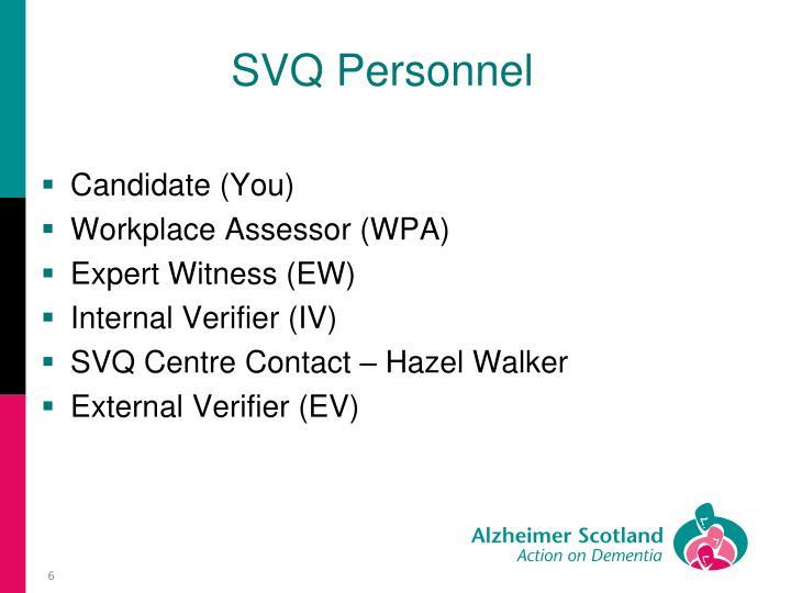 SVQ Personnel