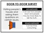 door to door survey
