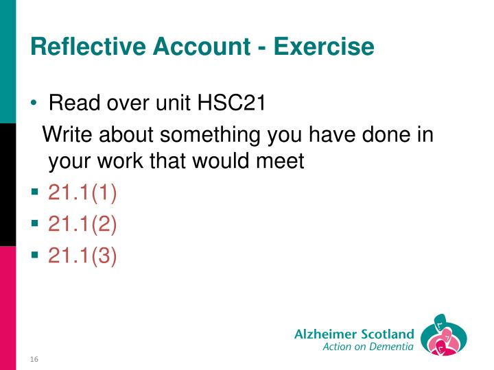 Reflective Account - Exercise