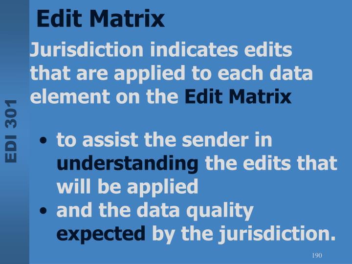 Edit Matrix
