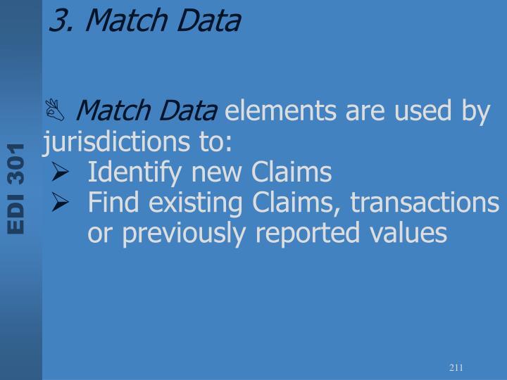 3. Match Data
