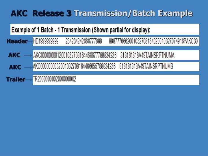 AKC  Release 3