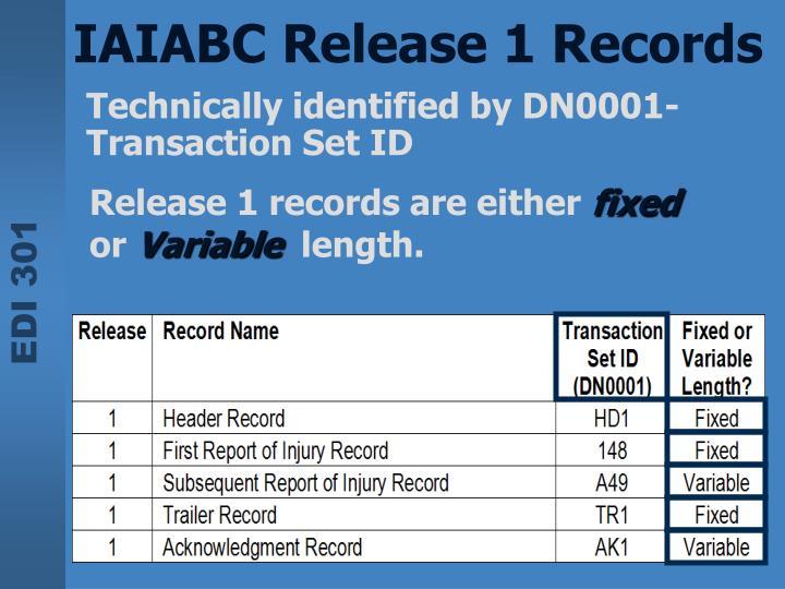 IAIABC Release 1 Records